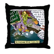 The Nightmare Before Class-mas Throw Pillow