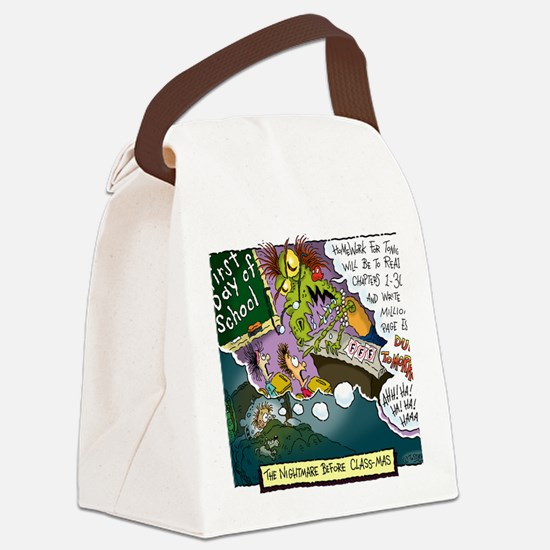 The Nightmare Before Class-mas Canvas Lunch Bag