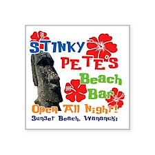 "Stinky Petes 3 Square Sticker 3"" x 3"""