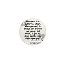 Hawthorne Happiness Quote Mini Button