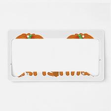 Halloween Pumpkin Kristina License Plate Holder