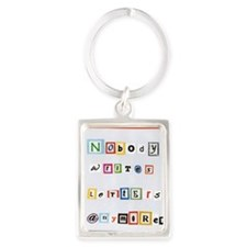 Nobody writes letters anymore. Portrait Keychain
