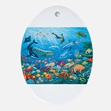 Oceanscape Ornament (Oval)