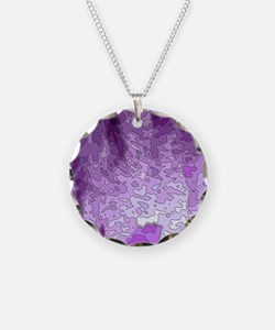 abstract maps purple Necklace