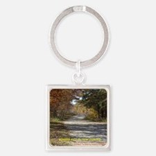 Forever Fall in New England Square Keychain