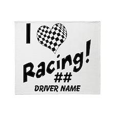 Custom Racing Throw Blanket