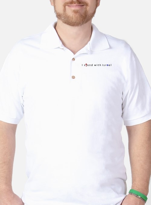 3-I stand with Isreal2.jpg Golf Shirt
