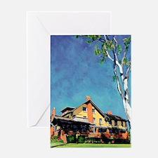 California Mansion by RD Riccoboni Greeting Card