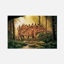 Stegosaurus Pair in Forest Magnets