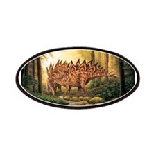 Stegosaurus Pair in Forest Patches