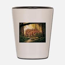 Stegosaurus Pair in Forest Shot Glass