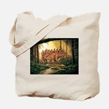 Stegosaurus Pair in Forest Tote Bag