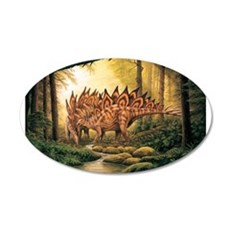 Stegosaurus Pair in Forest Wall Decal