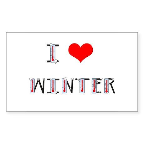 i love winter Rectangle Sticker