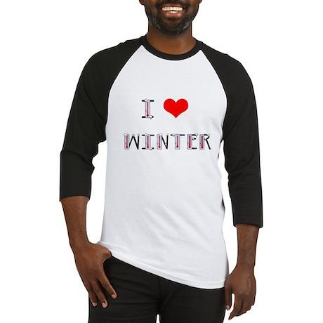 i love winter Baseball Jersey