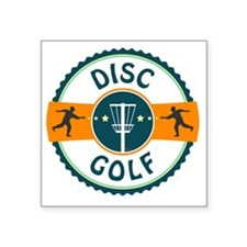 "Disc Golf Square Sticker 3"" x 3"""