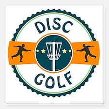 "Disc Golf Square Car Magnet 3"" x 3"""