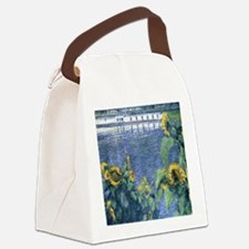 Sunflowers on the Banks of the Se Canvas Lunch Bag