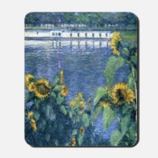 Sunflowers on the Banks of the Seine - C Mousepad