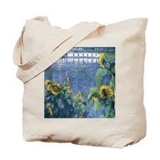 Sunflowers on the Banks of the Seine - Ca Tote Bag
