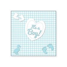 "It's a Boy Square Sticker 3"" x 3"""