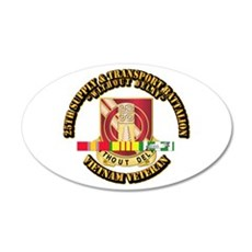 25th Supply & Transport Bn w SVC Ribbon Wall Decal