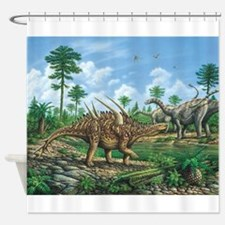 Huayangosaurus Shower Curtain