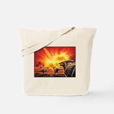 Parasaurolophus Meteor Strike Tote Bag