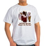 Beer and Sex Ash Grey T-Shirt