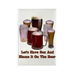 Beer and Sex Rectangle Magnet (100 pack)