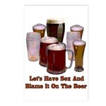 Beer and Sex Postcards (Package of 8)