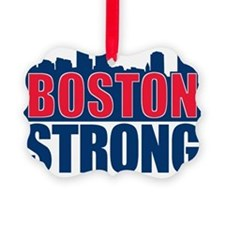 Boston Strong Red Blue Ornament