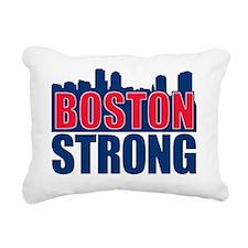 Boston Strong Red Blue Rectangular Canvas Pillow