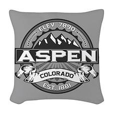 Aspen Grey Woven Throw Pillow