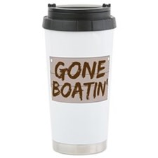 gone boatin_dark Travel Mug