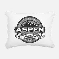 Aspen Grey Rectangular Canvas Pillow