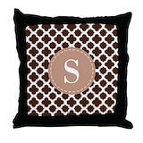 Monogram brown Cotton Pillows