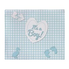 It's a Boy Throw Blanket
