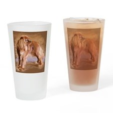 Cavalier King Charles Spaniel -Ruby Drinking Glass