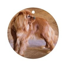 Cavalier King Charles Spaniel -Ruby Round Ornament