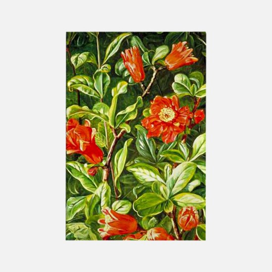 Flowers of the Pomegranate-Marian Rectangle Magnet