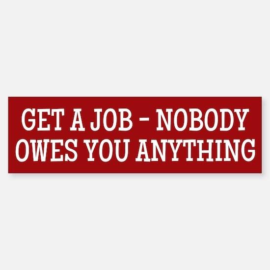Get A Job Bumper Car Car Sticker