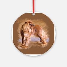 Cavalier King Charles Spaniel -Ruby Ornament (Roun