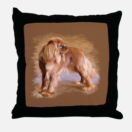 Cavalier King Charles Spaniel -Ruby Throw Pillow