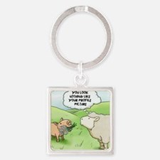 firstdate Square Keychain