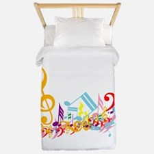 Colorful Musical Notes.png Twin Duvet