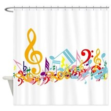 Colorful Musical Notes.png Shower Curtain