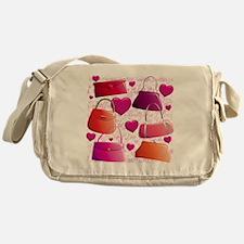 558 I Love Handbags for Cafe Press Messenger Bag