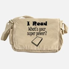 I Read What's Your Super Power? Messenger Bag