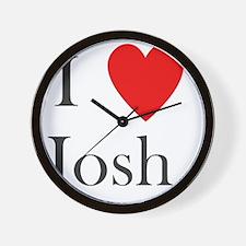 i love josh heart Wall Clock